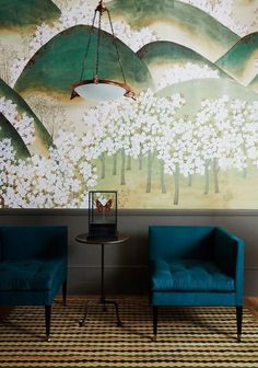 Degournay wallpaper brilliance with blue