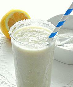 Banana and Coconut Milkshake.  yummy...something we shall make with the girls @Deanna marozas