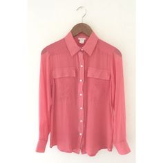 CLUB MONACO Pink Silk Blouse CLUB MONACO PINK SILK BLOUSE. BUTTON UP FRONT. WHITE BUTTONS UP FRONT AND SLEEVES. TWO OVERSIZED FRONT FLAP POCKETS. CONDITION: Gently used/ visible signs of wear. Club Monaco Tops Blouses