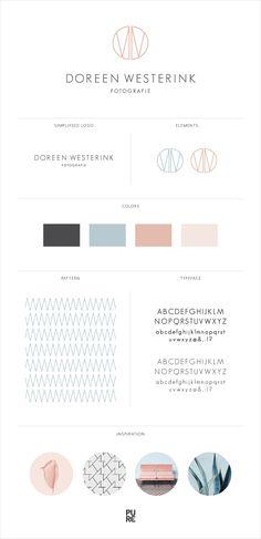 Branding Doreen Westerink Fotografie I Brand Design by PURE Art & Design I Pantone Quartz Rose I Minimalistic Design I Clean Logo I Monogram DW
