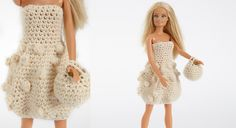 A dress and a bag for my doll - Prima Barbie Clothes Patterns, Clothing Patterns, Doll Clothes, Knit Or Crochet, Crochet Toys, Barbie And Ken, Barbie Dolls, Knitted Dolls, Knit Patterns