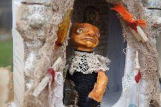 Prim Pumpkin Traveling Potion Show Art Doll EHAG by  Jennifer Hepler-Takens of PrimPumpkin on Etsy