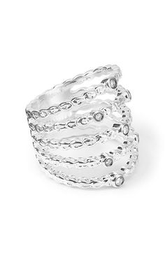 Ippolita 'Lollipop' Textured Five-Band Diamond Ring available at #Nordstrom