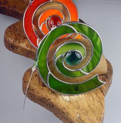 Stained+glass+Celtic+Spiral+Suncatcher++by+RainbowStainedGlass,+€24.00