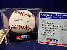 LUIS APARICIO Autographed Signed Baseball PSA DNA Graded COA Sealed Box MLB Sports Mem, Cards & Fan Shop:Autographs-Original:Baseball-MLB:Balls www.internetauctionservicesllc.com $159.99