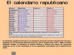 Resultado de imagen para calendario republicano frances 2017