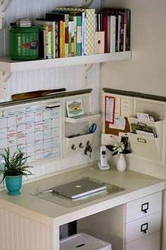 Storage Solutions / Highly organized space....shelves kitchen office simple (office)