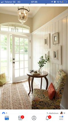 Simple and Modern Ideas Can Change Your Life: Wainscoting Beadboard Stairs wainscoting interior offices.Wainscoting Nursery Light Fixtures wainscoting door board and batten. Style At Home, Flur Design, Sweet Home, Decoration Design, My New Room, Entryway Decor, Country Entryway, Entryway Ideas, Open Entryway