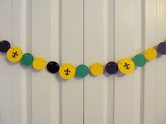 Mardi Gras Paper Garland Birthday Party by JewelsPapercrafts