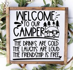 Diy Camping, Camping Ideas, Camping Stuff, Camping Essentials, Camper Signs, Lake Signs, Camper Makeover, Camper Life, Remodeled Campers