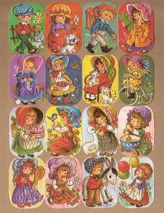 Kruger 171/258-259 Vintage kindjes poezieplaatjes