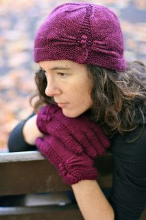 Haruna hat and Glove set by Carol Feller from the 'Scrumptious Knits' collection