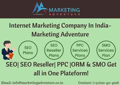 #MarketingAdventure SEO, SEO Reseller, PPC, ORM and SMO Services, Get all in One! #SEOIndia #SEOCompanyIndia