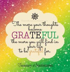 Grateful quote via www.Facebook.com/TreasuryofSentiments