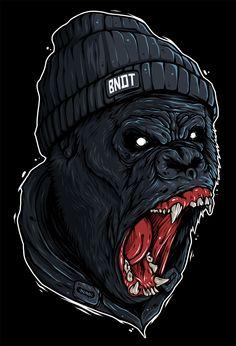 Illustration (Print): Rage (Bandit)