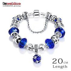 Bottom Price Promotion LZESHINE Antique Silver Original Glass Charm Bracelet