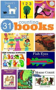 Great list of counting books for preschool. Make counting fun and celebrate literacy at the same time.