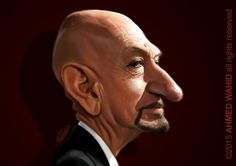 Ben Kingsley  Caricature by Ahmed Wahid , from Egypt