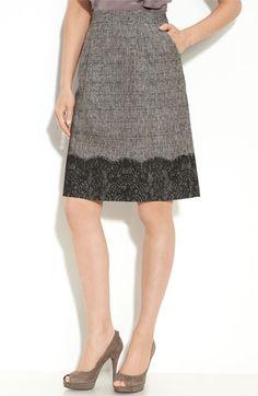 Classiques Entier® 'Myrrah' Lace Detail Skirt | Nordstrom - StyleSays