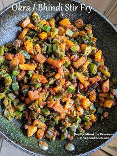 Okra / Bhindi Stir Fry #praveena #vegcookbook #vegan #vegcookbookbypraveena #glutenfree #stirfry #asian #indian #recipe #recipes #homemade #health #wellness #healthy #lowcals #diet #lowcarbs #weightLoss #okra #bhindi #bendakya #thalimpu #vepudu #quick #food #side #accompaniment #plantbased #wfpb #southIndian #panfry