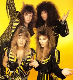 Stryper- my favorite striped Christian hair metal band. Yep you CAN love rock or metal and be a Christian. :) I do.