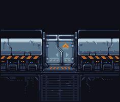 Simple piece I did for pixel dailies a few months back. Pix Art, Art Images, Pixel Art Background, 8 Bit Art, Pixel Animation, Pixel Art Games, Art Prompts, Futuristic Art, Game Concept Art