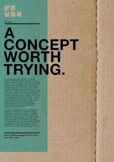Diseño de folletos sustentable - Type Dominant – the title captured me with the cardboard on the background. Layout Design, Font Design, Graphisches Design, Poster Design, Graphic Design Layouts, Graphic Design Posters, Graphic Design Typography, Banner Design, Graphic Designers