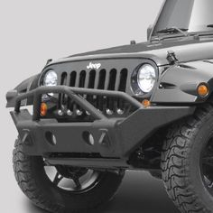 Rampage Products Marathon Bumper in Textured Black with Grille Guard for 07-up Jeep® Wrangler & Wrangler Unlimited JK