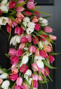Tulip Bouquet Discover Mothers Day Gift- Mothers Day Wreath- Gift for Her- Mothers Day Bouquet- Mothers Day Flowers- Silk Spring Wreath- Spring Decor Mothers Day Wreath, Mothers Day Flowers, My Flower, Beautiful Flowers, Beautiful Pictures, Mother's Day Bouquet, Tulip Bouquet, Tulip Wreath, Floral Wreath