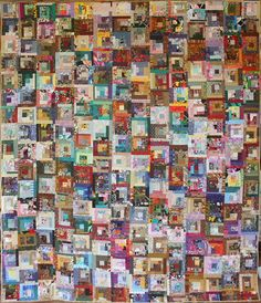 1000 Variety Pack Full Size Patchwork Art Quilt by ArtsforDesire