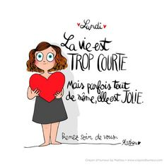 CDH Positive Attitude, Positive Quotes, Common French Phrases, Image Club, Bullet Journal Font, Burn Out, French Quotes, Mothers Love, Quote Prints