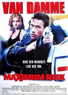 Maximum Risk poster, Natasha Henstridge and Jean Claude Van Damme, 1996 Cult Movies, Sci Fi Movies, Good Movies, Cinema Posters, Film Posters, Jc Van Damme, Claude Van Damme, Bon Film, Hollywood Cinema