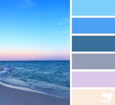 Color palette inspired by the ocean. Courtesy: { color set } image via: @lashesandlenses