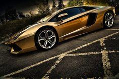 When Only Gold will Do  Lamborghini Aventador