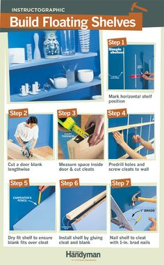 DIY Tutorial: How to Build Floating Shelves.