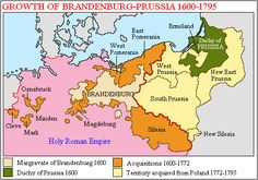 Map of Brandenburg Prussia | thumb|right|300px|Growth_of_ Brandenburg-Prussia , 1600-1795]