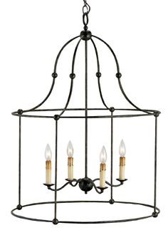 Currey & Company Fitzjames Mayfair 4-Light Lantern Chandelier - 9160