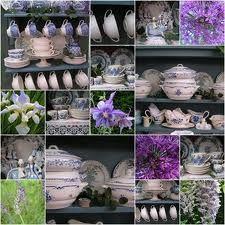 Blauw/wit servies. Houd ik van!, komt van http://villaextra.blogspot.com