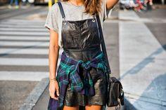 Leather Dress   Collage Vintage