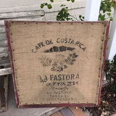 old farmhouse screen window frame and burlap sack upcycled into fun, urban vintage wall art $85   to purchase go to www.urbanoutlinedesign.com or email urbanoutlinedesign@gmail.com or call (480) 707 8171 #urbanoutline #urbanindustrial  #upcycled #retromodern #vintage #midcentury #forsale #design #vintagechic #handmade #treasure #create #retro #reclaimedwood #barnwood #industrial #eclectic #funky