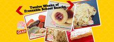 Twelve Weeks of Freezable School Snacks | Stay at Home Mum