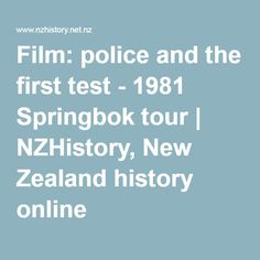 Film: police and the first test - 1981 Springbok tour.