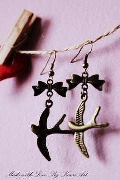 Swallows Earrings