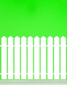 Picket Fence with Pointed Top  Vinyl Wall Art by VinylWallAccents, $8.00