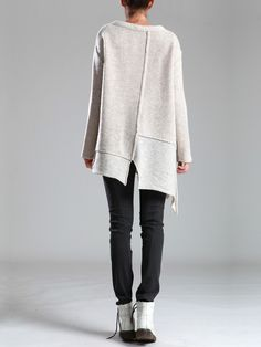 KNITTED WOOL SWEATER - JACKETS, JUMPSUITS, DRESSES, TROUSERS, SKIRTS, JERSEY, KNITWEAR, ACCESORIES - Woman -
