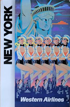 """New York Western Airlines""  1990c"