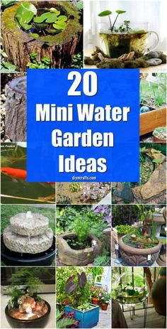 20 Charming And Cheap Mini Water Garden Ideas For Your Home And Garden {With tut. - Easy DIY Garden - 20 Charming And Cheap Mini Water Garden Ideas For Your Home And Garden {With tut… - Small Water Gardens, Container Water Gardens, Container Gardening, Container Pond, Ponds Backyard, Backyard Landscaping, Backyard Patio, Landscaping Ideas, Patio Ideas