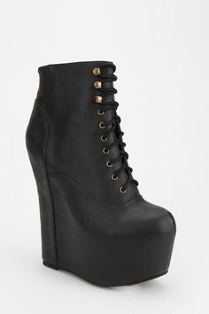 I no longer have to wish to be a little bit taller. 7 inch heel!!!! Jeffrey Campbell Smooth Damsel Platform Boot  #UrbanOutfitters