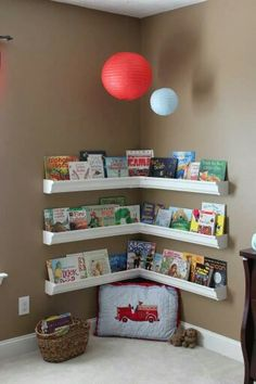 Reading corner. Cute idea