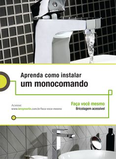 As torneiras monocomando deixam qualquer banheiro mais charmoso. E esse detalhe que pode ser instalado por você mesmo. http://leroy.co/1IwQjkq